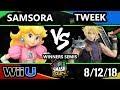 SSC 2018 Smash 4 - Samsora (Peach) Vs. Tweek (Cloud) - Wii U Winners Semis