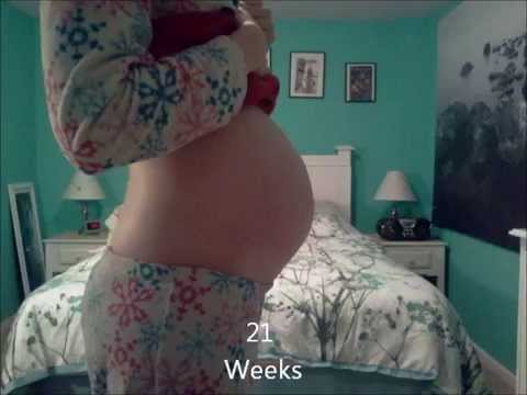 Huge Baby Bump Twins weeks 10-35! Belly growth!