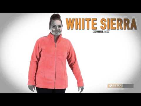 White Sierra Cozy Fleece Jacket For Plus Size Women
