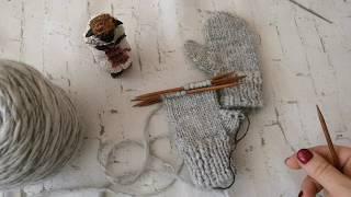 #Варежки #спицами с анатомическим пальцем МК ребенку на 1-2года
