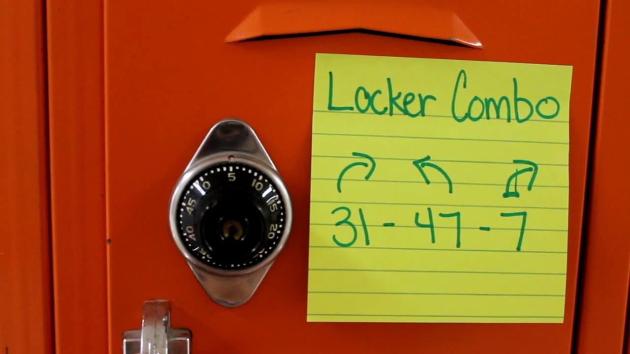 locker lock how to open