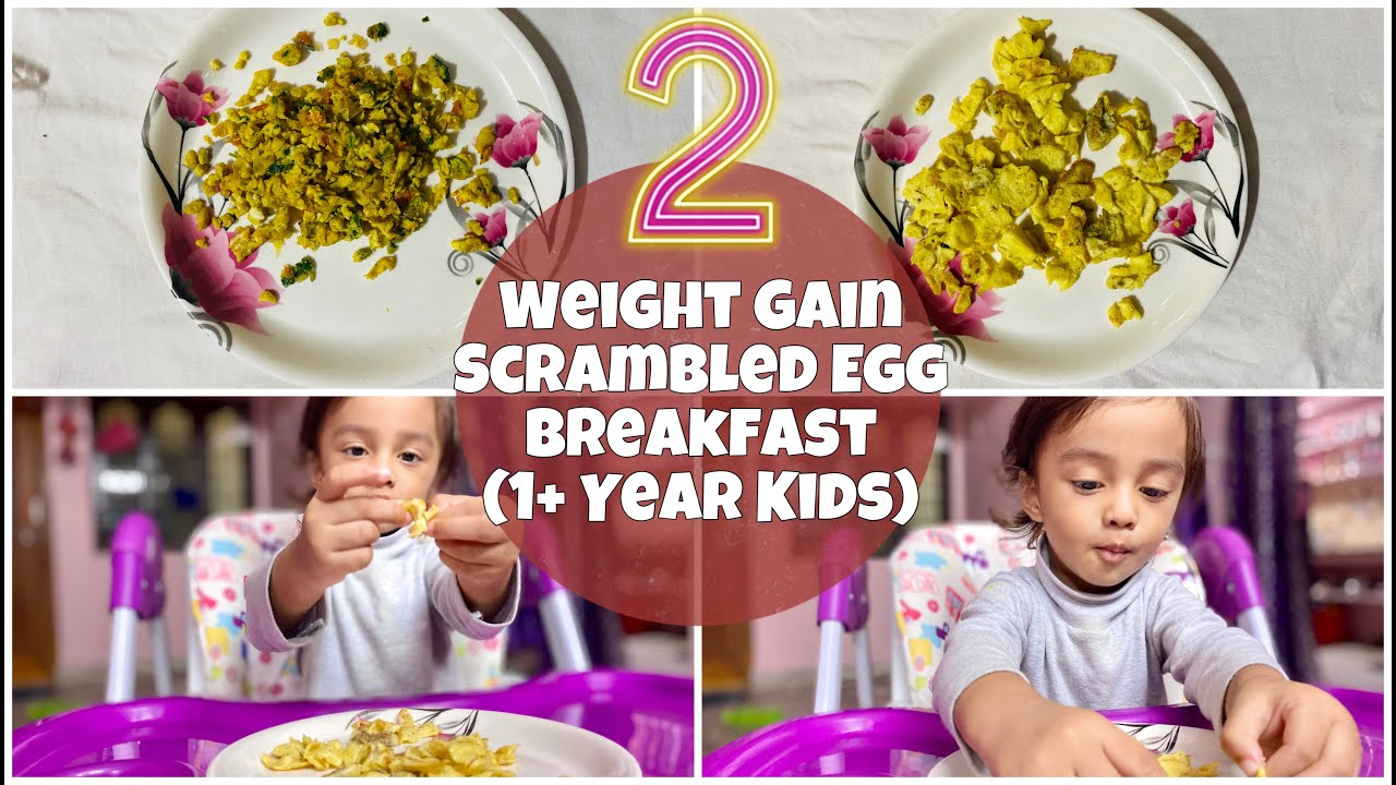 2 TASTY| HEALTHY |WEIGHT GAIN Scrambled Egg Breakfast For 1+ Year TODDLERS & KIDS