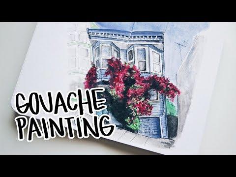 Painting With My DIY Gouache Palette   Ch▲r ▼illen▲