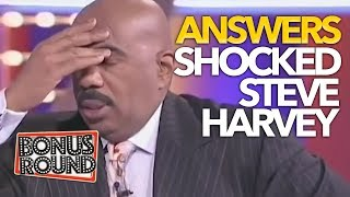 SURPRISING ANSWERS THAT SHOCKED STEVE HARVEY | Family Feud USA
