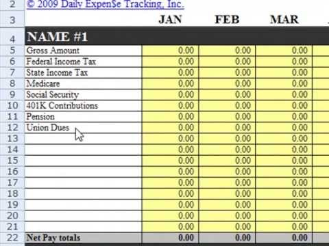 setup income categories in daily expense tracking excel budgeting