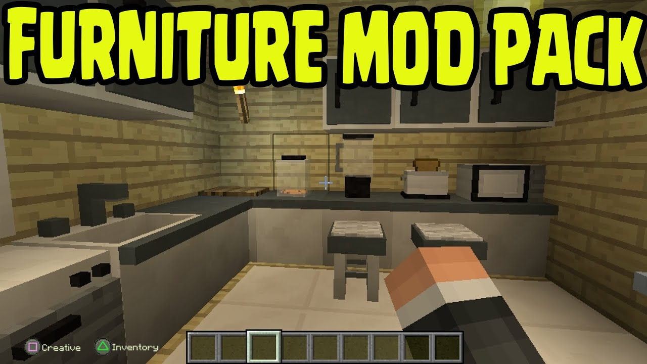 Minecraft PS3, PS4, Xbox360, Wii U   FURNITURE MOD PACK GAMEPLAY CONCEPT