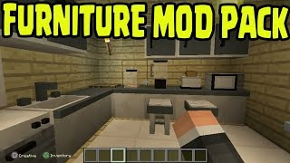 Minecraft PS3, PS4, Xbox360, Wii U - FURNITURE MOD PACK GAMEPLAY CONCEPT