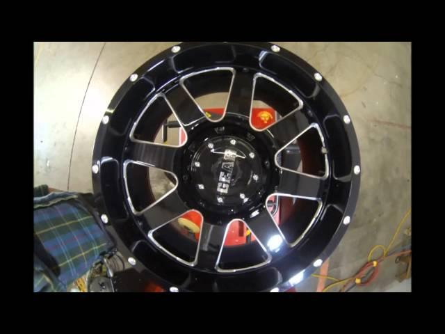 Gear Alloy Truck Wheels Big Block 726 Black Machined