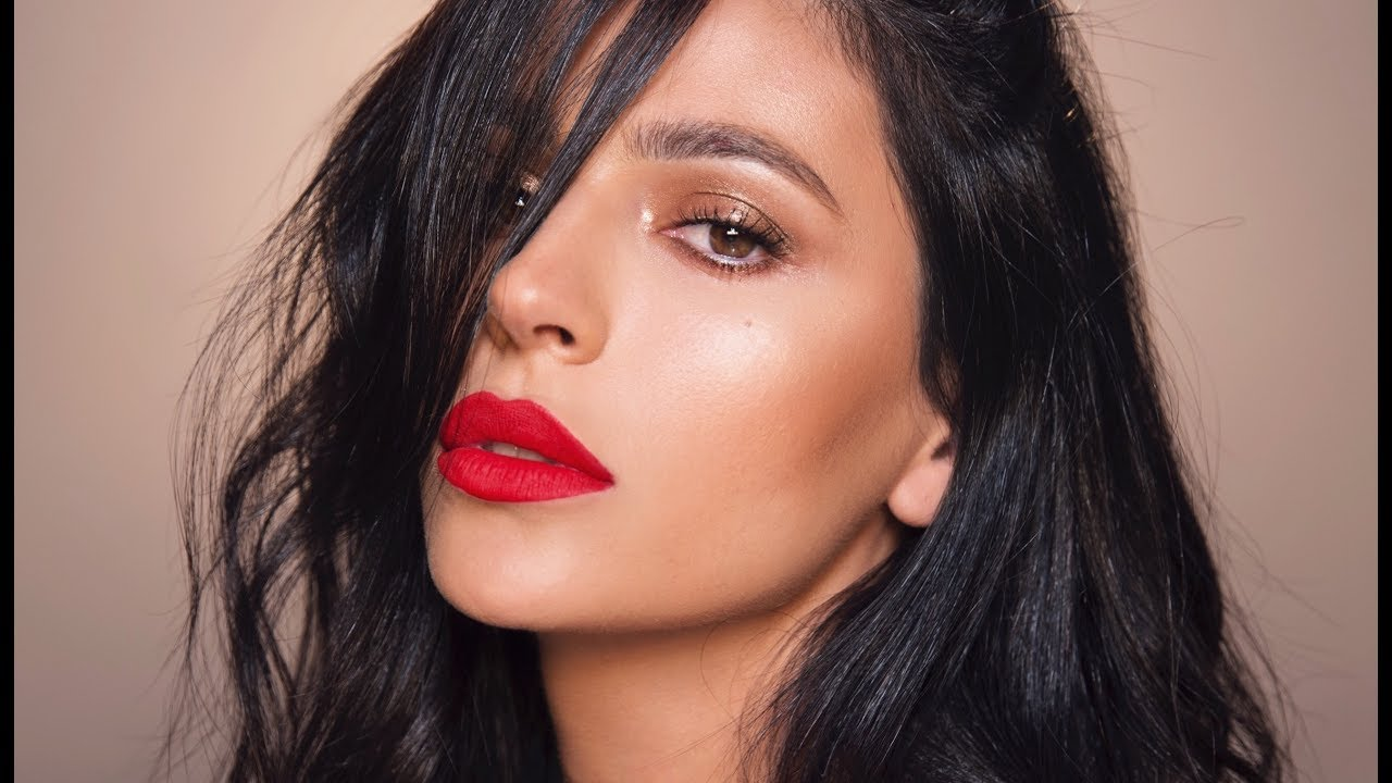 Red Lips Bronze Eyes Makeup Tutorial Teni Panosian Youtube