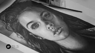 Портрет акриловыми красками /art by Tetti Do