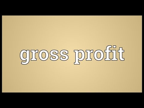 Gross profit Meaning