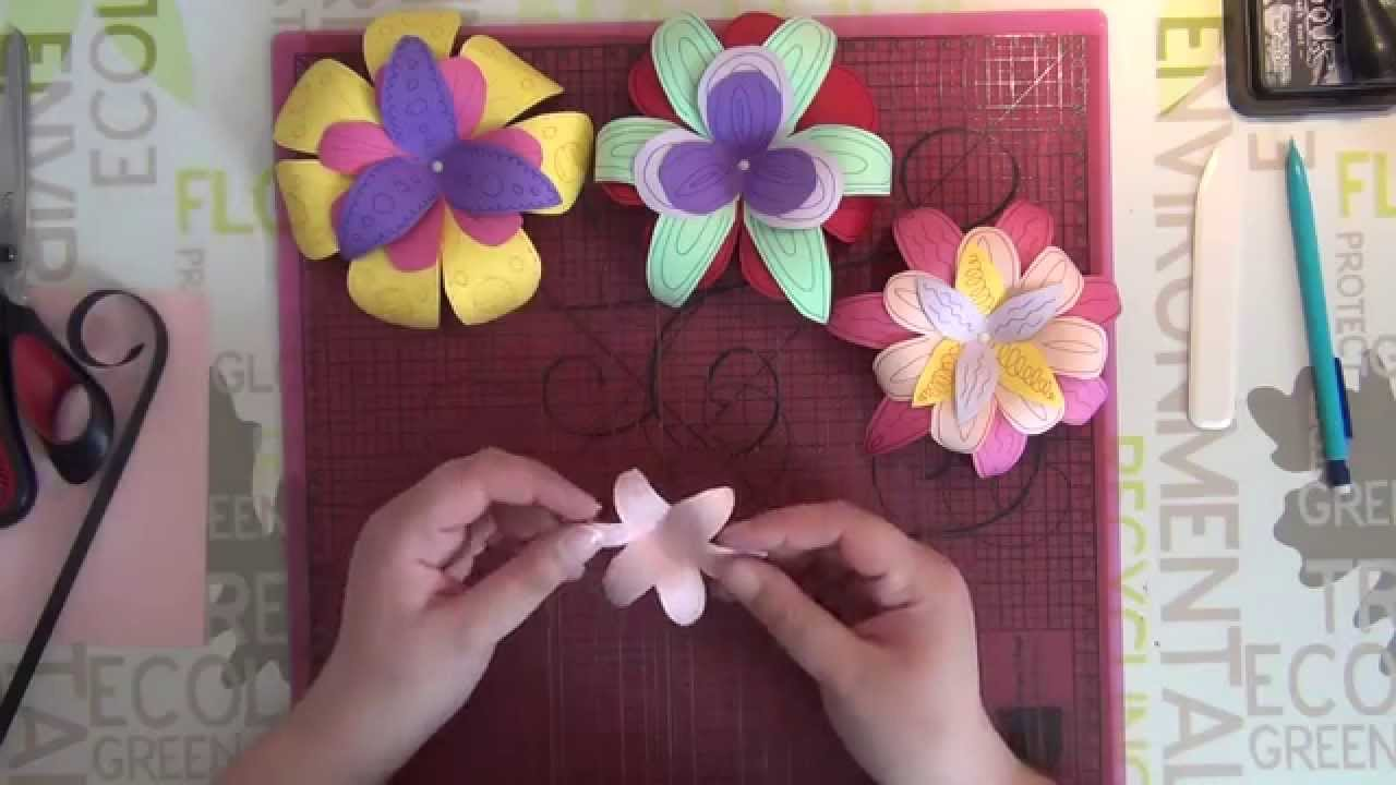 Tuto Scrap Creation Fleurs En Papier Part 1 Youtube