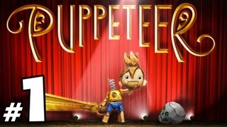 Puppeteer - Walkthrough PART 1 - The Evil Moon Bear King Bit My Head Off!!! (Act 1 Curtain 1)