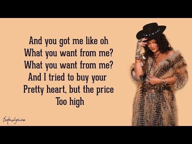 Rihanna - Love On The Brain (Lyrics)