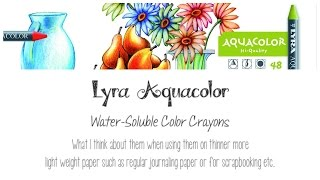 Lyra Aquacolor Water Soluble Crayons - My 2 Cents
