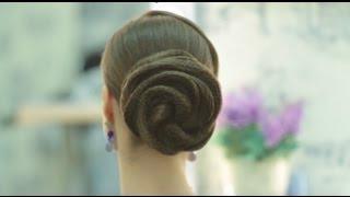 Как сделать прическу на сетках #3/How to make simple hairdo with nets #3