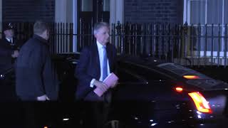 Hammond arrives at Downing Street as May sneaks through back door