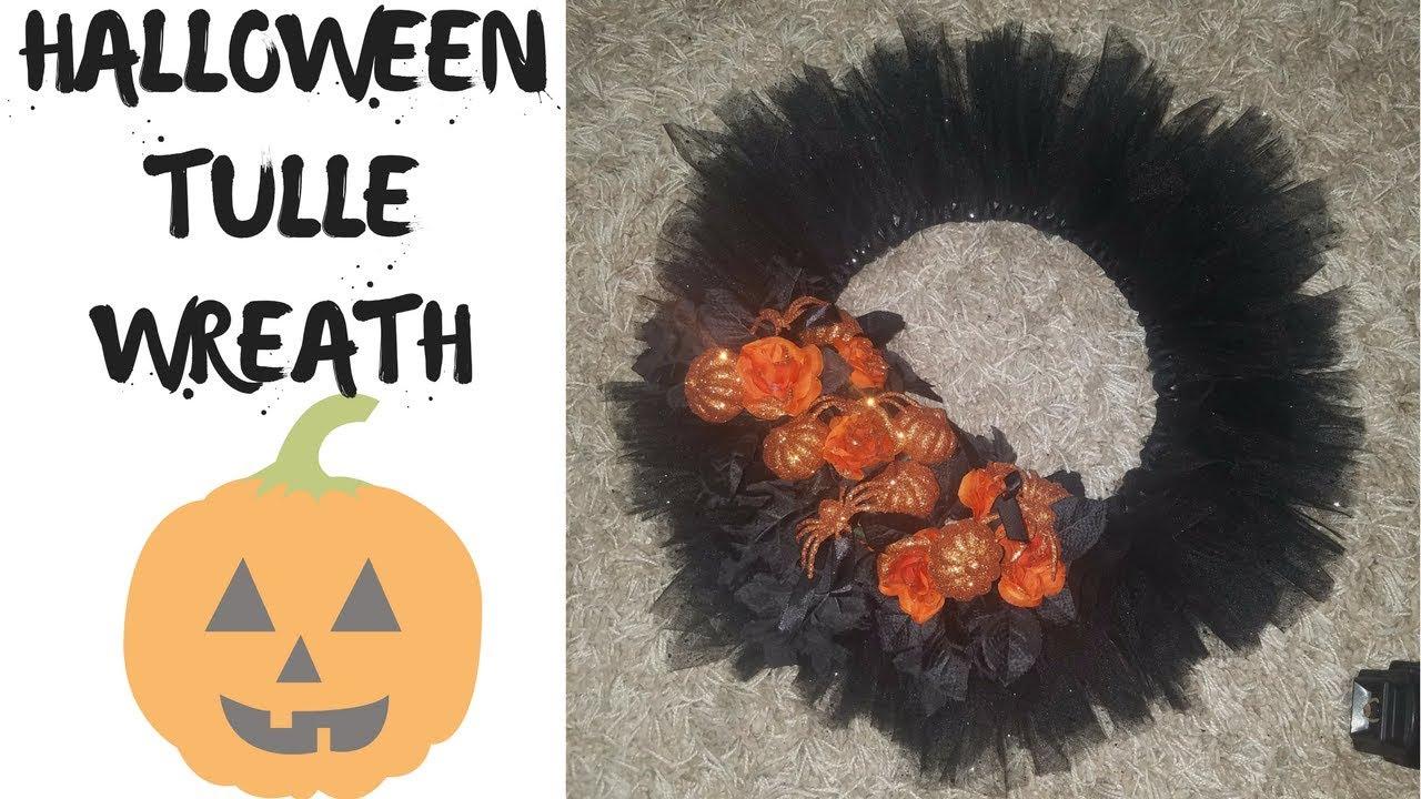 tulle halloween wreath quick u0026 easy vlogtober