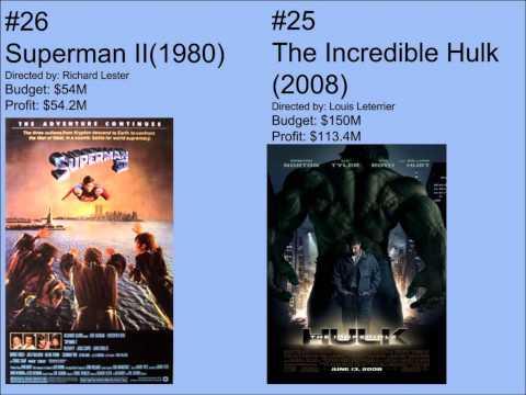 Top 50 Superhero Movies Based on Comic Books