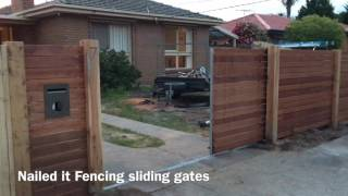 Sliding gates and front feature fences by Nailed it Fencing
