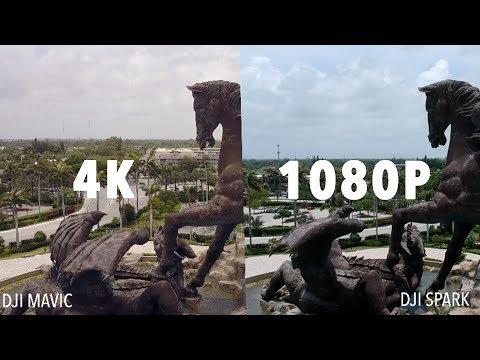 DJI Spark 1080p VS DJI Mavic 4K FOOTAGE!