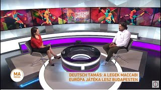 Deutsch Tamás: A legek Maccabi Európa játéka lesz Budapesten