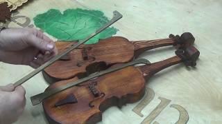 кАК СДЕЛАТЬ ДЕРЕВЯННУЮ СКРИПКУ СТРАДИВАРИ и АМАТТИ )))))) Деткам в садик.Крутая скрипка из столярки