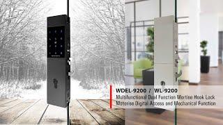 WEIDER - WDEL-9200 MECHANTRONIC DIGTIAL SLIDING GLASS DOOR HOOK LOCK