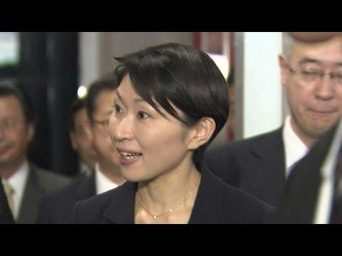 在任1カ月 小渕経産大臣、辞任会見で無念さあらわ(14/10/20)