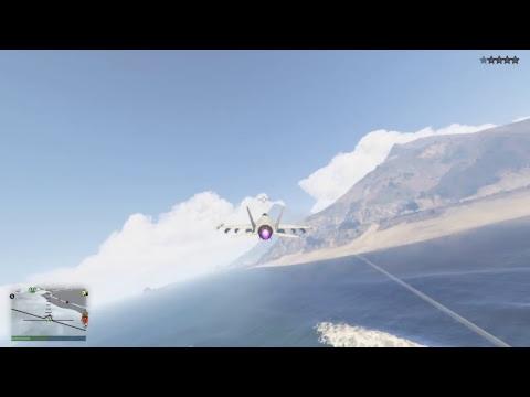 GTA5 Epic jet stunts + Terrible death match w/ hackers