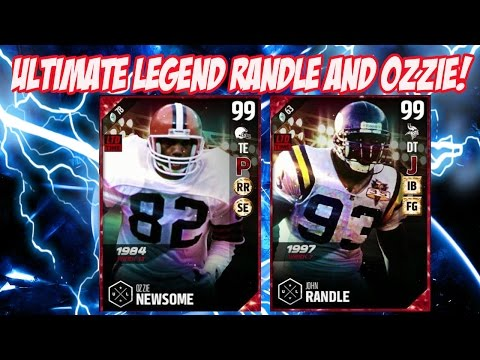 ULTIMATE LEGENDS JOHN RANDLE AND OZZIE NEWSOME! | MADDEN 17 ULTIMATE TEAM