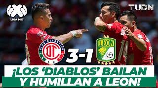 ¡Furia diabólica! Toluca golea y hace arder el 'Infierno' | Toluca 3-1 León AP-2017 | TUDN