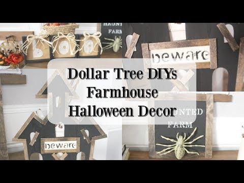 DOLLAR TREE DIYS | FARMHOUSE HALLOWEEN DECOR 2019