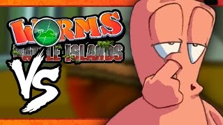 VS MODE: Worms: Battle Islands - The Game is Mine! (Part 1) (4-Player)