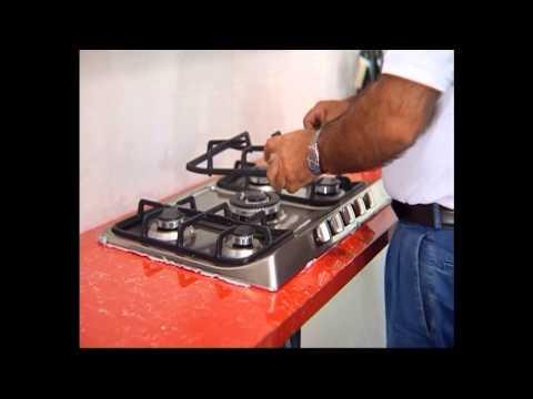 Bếp ga âm inox teka 90 5g Video hướng dẫn lắp đặt ( Thế Giới Bếp)
