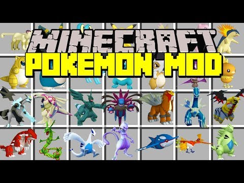 Minecraft POKEMON MOD!   CATCH NEW LEGENDARY POKEMON & MORE!   Modded Mini-Game