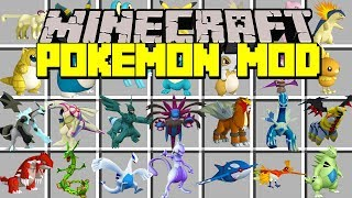 Minecraft POKEMON MOD! | CATCH NEW LEGENDARY POKEMON & MORE! | Modded Mini-Game