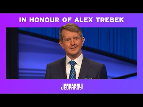 Ken Jennings Honors Alex Trebek In His First Episode as Guest Host | JEOPARDY! - Видео онлайн