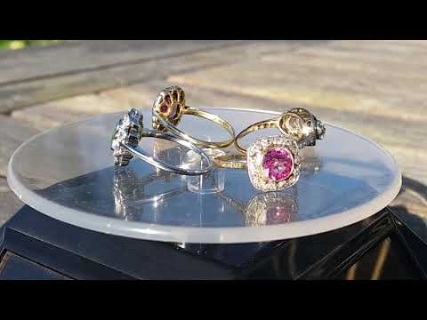 Selection of stunning old cut diamond rings from Fine Antique Diamonds