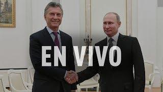"""Macri se reúne con Vladimir Putin: """"Tenemos mucho para crecer en el intercambio de ambas naciones"""""""