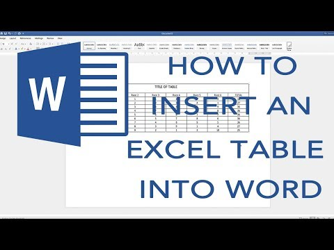 How to put an EXCEL table into word. Editable Table (2019)