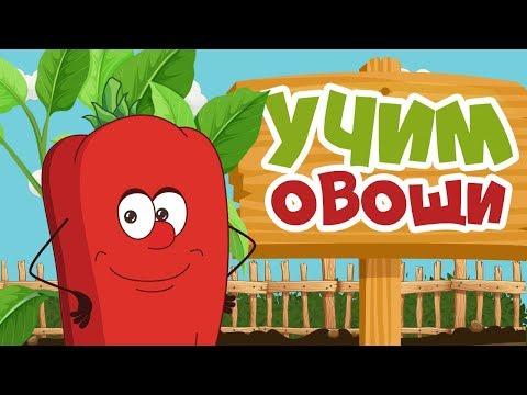 УЧИМ ОВОЩИ для детей - развивающие мультики для самых маленьких на русском