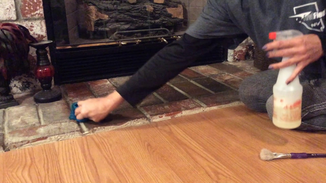 ASMR Dusting Cleaning Brushing Spraying Scrubbing Fireplace (no tapping no talking)
