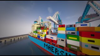 Minecraft container ship & harbour
