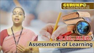 Assessment of Learning(B.Ed, M.Ed))(Hindi)