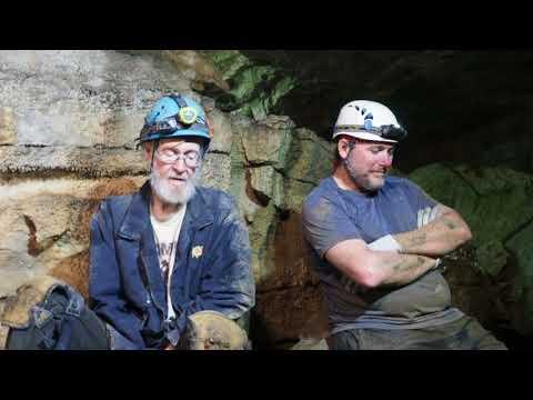 Marion O. Smith in a Hardin County Kentucky Cave