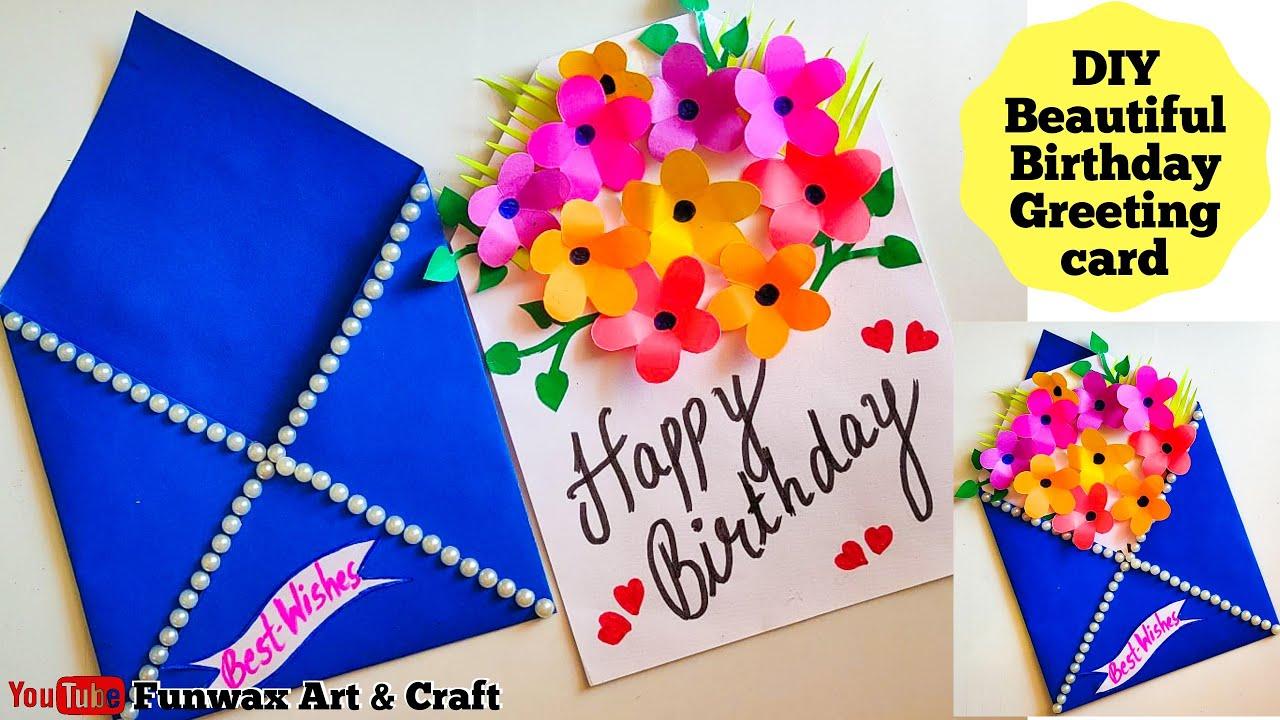 diy happy birthday card  handmade easy card tutorial