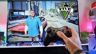 GTA 5- XBOX 360 PΟV Gameplay Test, Unboxing And Setting Up