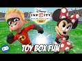 Dash and Minnie Mouse Disney Infinity 3.0 Toy Box Fun Gameplay