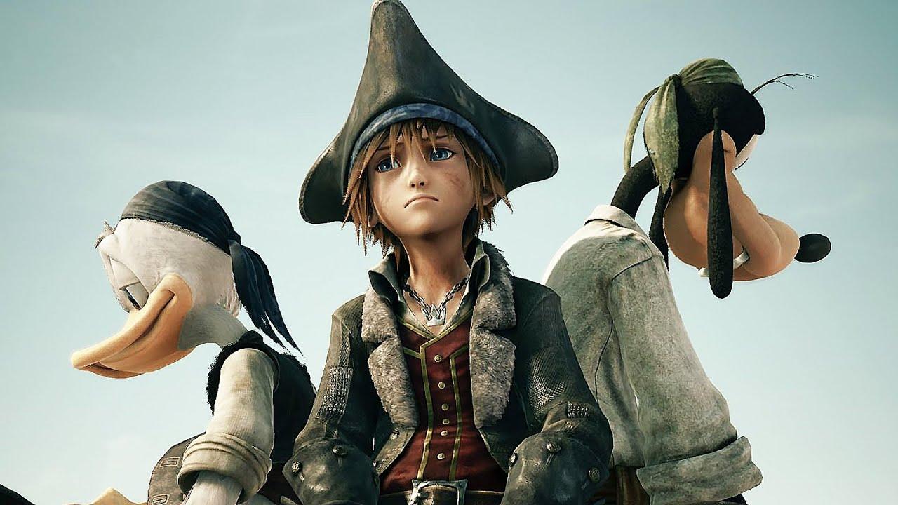 Kingdom Hearts 3 All Cutscenes Movie Jack Sparrow Pirates of the Caribbean (English Dub) 2019